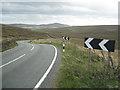 SJ9968 : Double bend, A54 west of Cut-thorn Hill  by Robin Stott