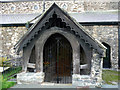 SH7877 : North Porch - Church of St Mary and All Saints, Conwy by Phil Champion