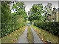 SK2668 : Entrance beside Beeley Lodge by Chris Heaton