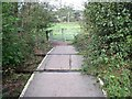 SJ9252 : Footpath level crossing on the Stoke to Leekbrook Line by Ian Calderwood