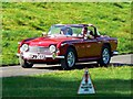 ST7475 : Red Triumph TR4A at 'Spirit of the 60s' 02 October 2011 Dyrham Park by Brian Robert Marshall