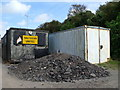 TQ3803 : Portacabins and rubble, Saltdean by nick macneill