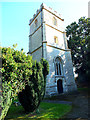 ST8115 : Church of St Nicholas, Manston- the tower by Jonathan Kington