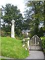 SX1268 : Stone cross on the edge of Cardinham churchyard by Rod Allday