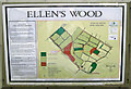 ST5884 : Interpretive sign, Ellen's Wood  by Robin Stott