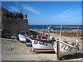 SW3526 : Fishing boats in Sennen Cove harbour : Week 39