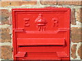 NZ1768 : Edward VII postbox, Callerton - royal cipher by Mike Quinn