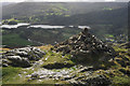 NY3305 : Cairn overlooking Elterwater by Tom Richardson