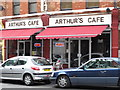 TQ2383 : Arthur's Cafe, Station Terrace, NW10 by Mike Quinn