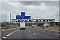 TQ4899 : M25 - gantry for junction 27 by Robin Webster