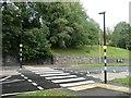 SE0921 : Zebra crossing, Rochdale Road, Greetland by Humphrey Bolton