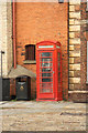 SK9771 : Castle Square phone box by Richard Croft