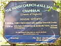 TQ5786 : All Saints Church Sign Cranham by Richard Dunn