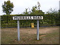 TM2042 : Murrills Road sign by Adrian Cable