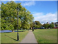 TQ2974 : Path on Clapham Common by Ian Yarham