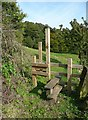 SE0026 : Stile on Hebden Royd FP 17 east of Stephenson House by Humphrey Bolton
