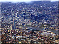 TQ3280 : Thames bridges and the City of London from the air by Thomas Nugent