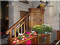 ST8115 : Pulpit, St Nicholas Church by Miss Steel