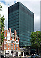 TQ2982 : Fire station and Evergreen House, Euston Road by Stephen Richards