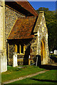 TL3627 : Porch, St Mary's Church, Westmill, Hertfordshire by Julian Osley
