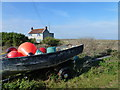 TF7944 : Buoys in a boat at Brancaster Staithe by Richard Humphrey