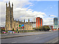 SJ8297 : Church of St George, Chester Road, Hulme by David Dixon