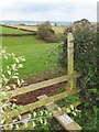 SS9310 : Stile on footpath north of Hilltop by David Smith