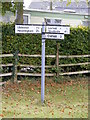TM3072 : Roadsign on Low Road, Banyard's Green by Adrian Cable