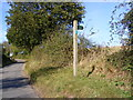 TM3475 : Footpath to Bush Hill Farm, Linstead Road &amp; the B1123 Chediston Street by Adrian Cable