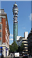 TQ2981 : British Telecom Tower, Cleveland Street (1) by Stephen Richards