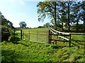 SU1312 : Midgham Farm, gate &amp; stile by Mike Faherty