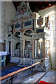 SU2355 : The Pile tomb-monument - St Mary's church, Collingbourne Kingston by Mike Searle
