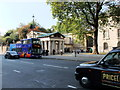 TQ2979 : Tour bus outside The Queen's Gallery, Buckingham Gate by PAUL FARMER