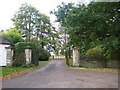 SU3899 : Longworth Manor gates by Chris Holifield