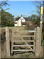 SK6431 : Footpath gate at Hill Farm by Alan Murray-Rust