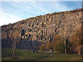 SD4972 : Evening dog walk, Warton Main Quarry by Karl and Ali