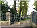 ST5755 : The entrance gates to Eastwood Manor by David Purchase