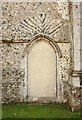 TL9676 : St Andrew, Barningham - Blocked doorway by John Salmon