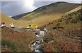 SD1585 : Dam building across Whitecombe Beck by Ian Taylor