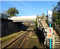 SS9992 : Steps up to a footbridge, Tonypandy Railway Station by John Grayson