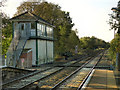 SJ9490 : Romiley Junction Signal Box by David Dixon