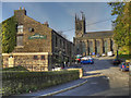SE0006 : The Church Inn and St Chad's Church, Saddleworth by David Dixon