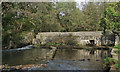 SS8282 : Disused weir on the Afon Cynffig, Pyle by eswales