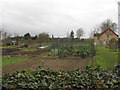 TL3568 : Allotments and Baptist cemetery by Hugh Venables