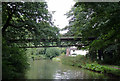 SJ6475 : Pipe bridge over the canal near Anderton, Cheshire by Roger  Kidd