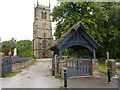 SJ7049 : St Chad's, Lych gate and tower by Alexander P Kapp