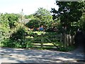SJ8478 : Entrance to allotments, Heyes Lane, Alderley Edge by John Brightley