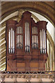 SK7053 : The Organ in Southwell Minster by J.Hannan-Briggs