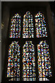 TQ3380 : Stained Glass Window in Chapel inside Tower of London by Christine Matthews