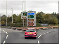 NS7158 : Roundabout at M74 Junction 5 by David Dixon